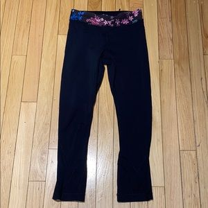 lululemon athletica Pants & Jumpsuits - Woman's Black Multicolor Lululemon Leggings Size 2